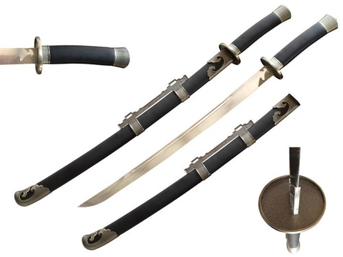 """38"""" Qing Dynasty Chinese Sword 75Mn Spring Steel Hand Forge"""
