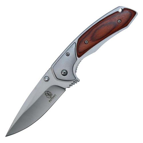 Buckshot Wood Inlay A/O Pocket Knife
