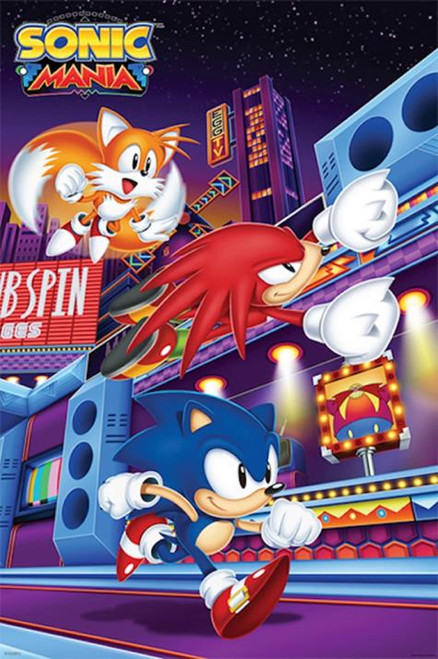 Sonic The Hedgehog Mania Gaming Poster