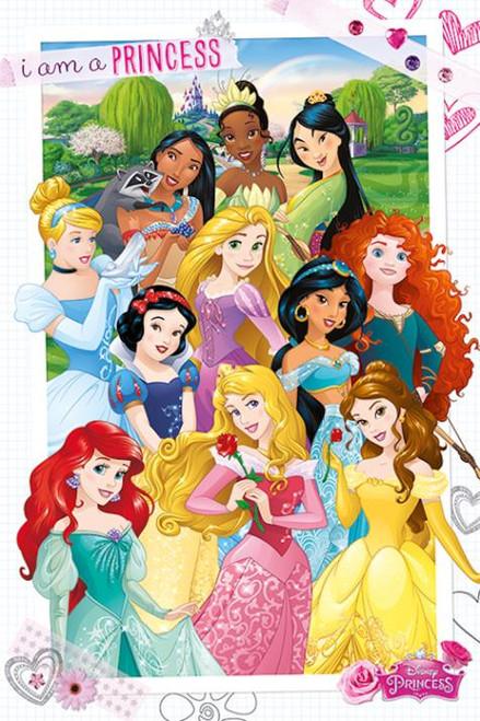 Disney I Am A Princesses Cartoon Poster