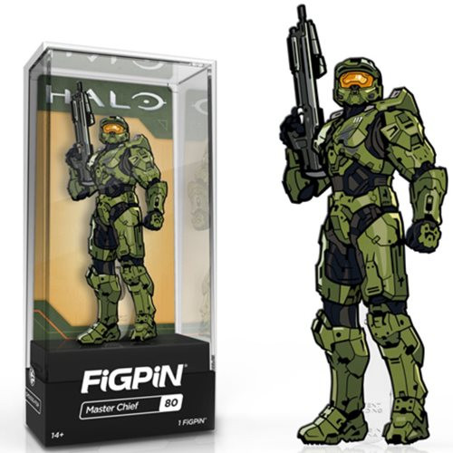 Halo Master Chief w/ Gun FiGPiN #80 Enamel Pin Limited Edition