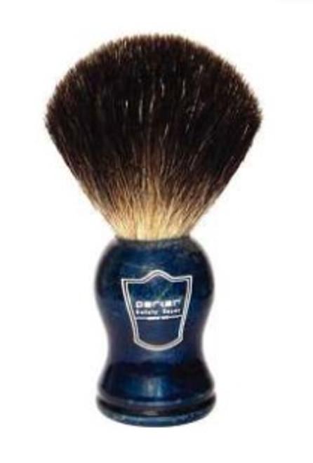 Parker - Blue Wood Handle Black Badger Bristle (Shaving Brush)