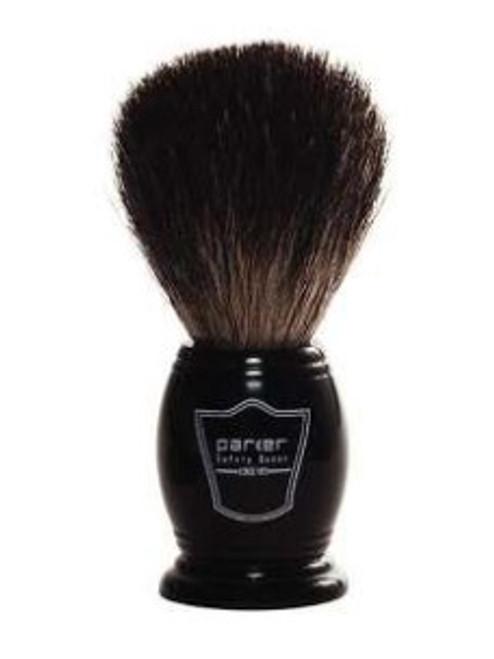 Parker - Black Resin Handle Black Badger Bristle (Shaving Brush)