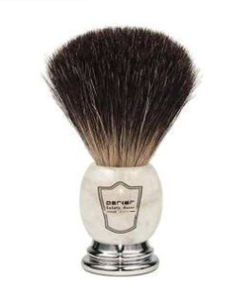 Parker - Marbled Ivory Handle Black Badger Bristle (Shaving Brush)