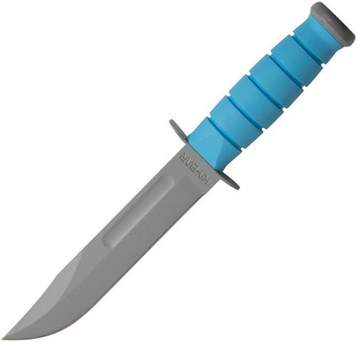 """Ka-Bar USSF Space-Bar Fixed Blade Blue Kraton [7.00"""" Plain Gray] Clip Point 1313SF"""