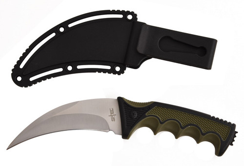 "Stec 9"" Karambit Hunting Knife (Silver)"