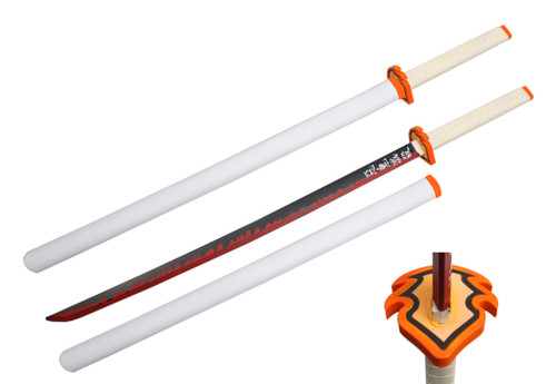 Foam - (Kyojuro Rengoku) Demon Slayer Anime White Katana Sword