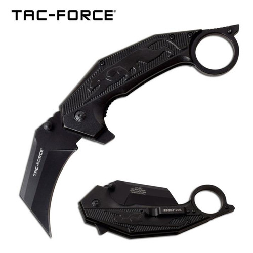 Tac-Force Karambit Black Panther A/O Pocket Knife (3CR13)