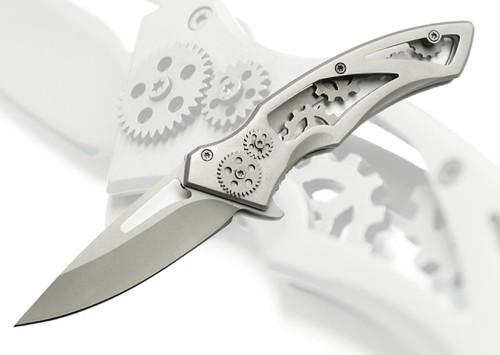 Steampunk Gears Pocket Knife