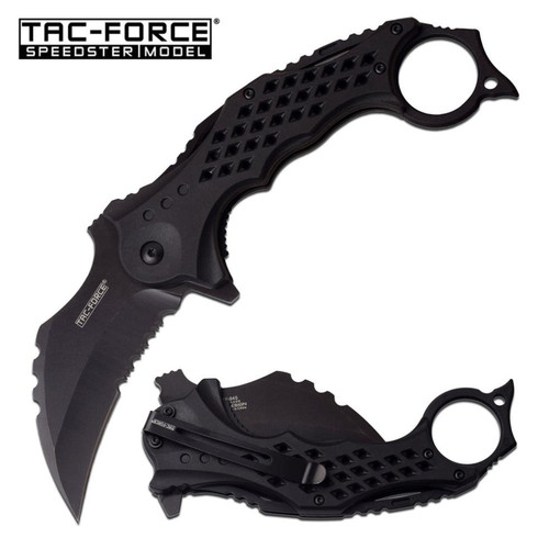 Tac Force BLACK Karambit A/O Pocket Knife