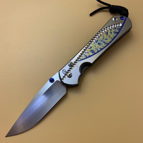 """CRK Large Sebenza 31 Manual Knife (Unique Design A2-02) [3.61"""" Plain Stonewash] Drop Point"""