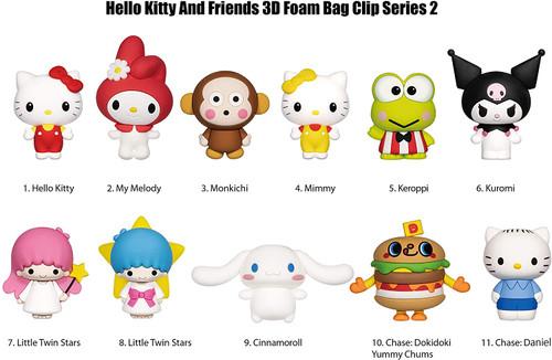 Hello Kitty Series 2 3D Foam Bag Clip Random Blind Bag
