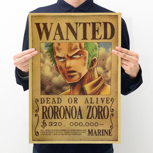 Print - One Piece Wanted Poster (RORONOA ZORO)