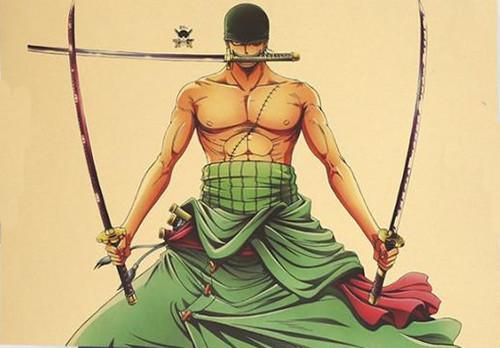 Print - Roronoa Zoro Three Style Swords Men (One Piece Anime)