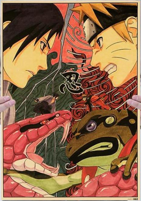Print - Sasuke vs Naruto (Naruto Anime)