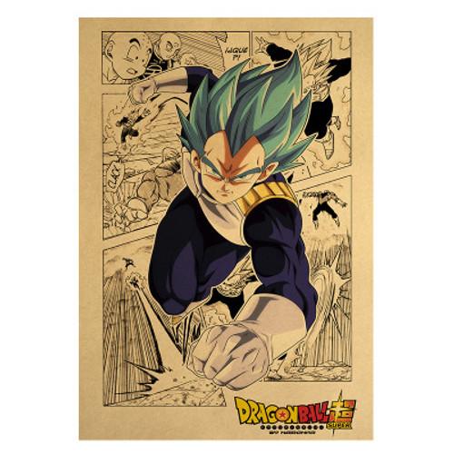 Print - God Vegeta Manga (Dragon Ball Super Anime)