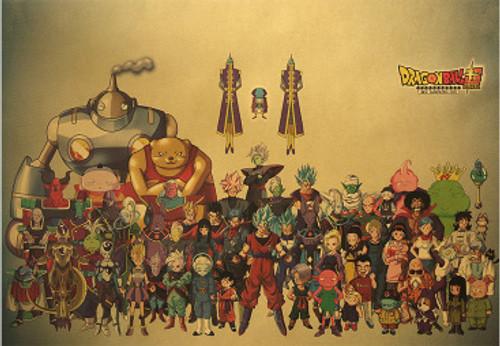 Print - DBZ Full Cast (Dragon Ball Super Anime)