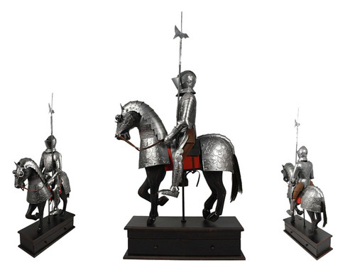 """Knight Medieval Cavalry 25"""" X 15"""" Hand Made Steel"""