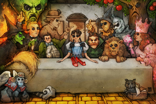 Last Supper Wizard of Oz Poster