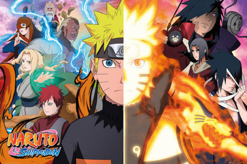Naruto Split Group Poster