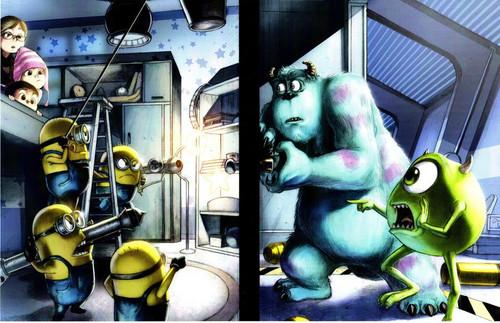 Monster Inc vs. Minions Print (11x17)
