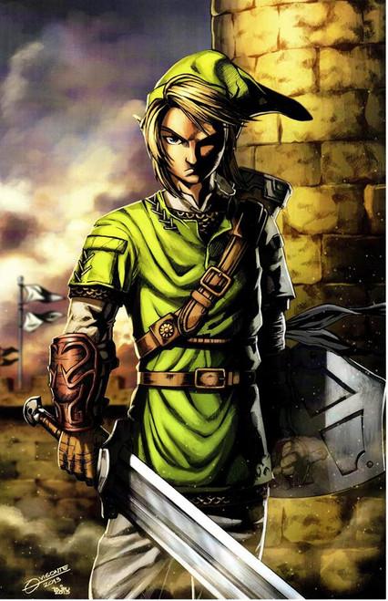 Zelda - Link Print (11x17)