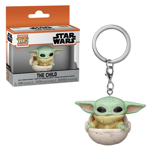 Pop! Keychain Star Wars: Mandalorian The Child in Canister Vinyl Figure