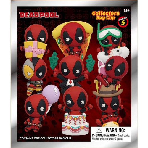 3D Foam Key Ring - Deadpool (Series 5) [1 Random Bag]