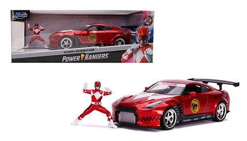Model Car - 1:24 (Red Ranger) Power Ranger Nissan 2009 GT-RR35