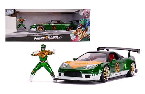 Model Car - 1:24 (Green Ranger) Power Ranger Honda 2002 NSXJapan Spec Green