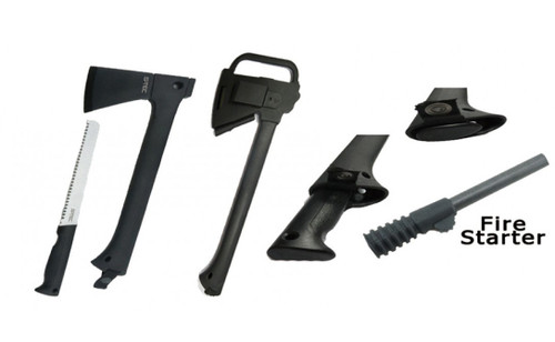 """14"""" Axe with (11.9"""" Saw) & Magnesium Fire Starter"""