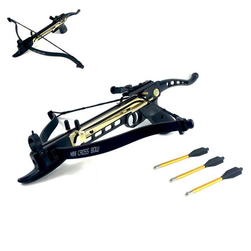 80lbs Self-Cocking Metal Crossbow with (3 Aluminum Arrows)
