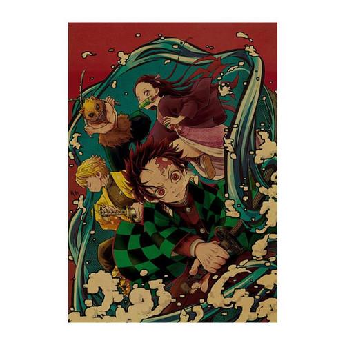 Print - Demon Slayer Water Group (Demon Slayer Anime)