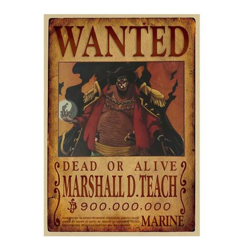 Print - One Piece Wanted Poster (MARSHALL D TEACH) aka Black Beard 900,000,000