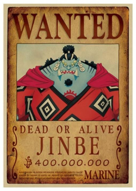 Print - One Piece Wanted Poster (JINBE) 400,000,000