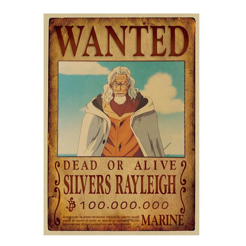Print - One Piece Wanted Poster (SILVERS RAYLEIGH) 100,000,000