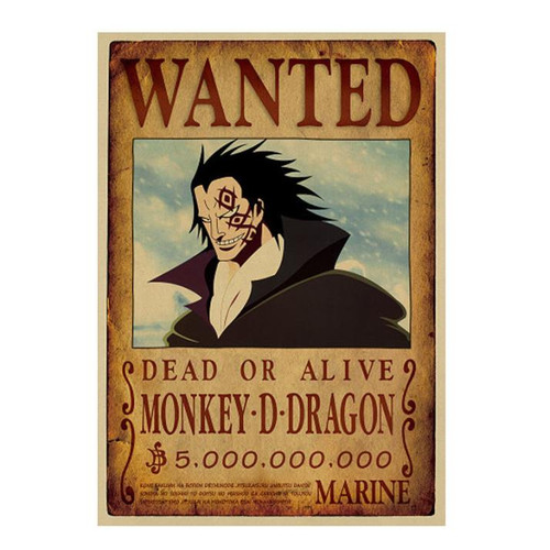 Print - One Piece Wanted Poster (MONKEY D DRAGON) 5,000,000,000