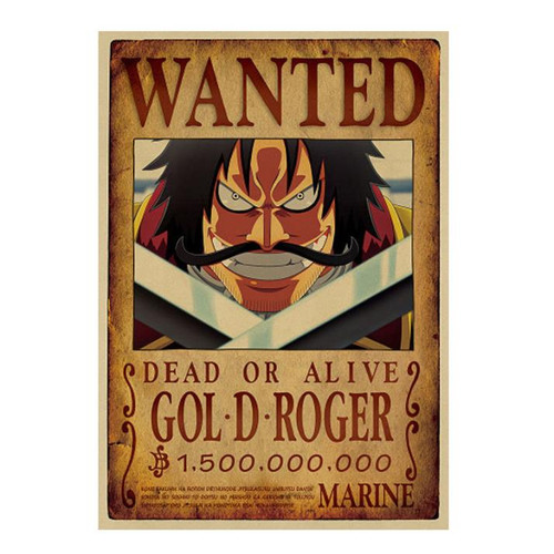 Print - One Piece Wanted Poster (GOLD ROGER) 1,500,000,000