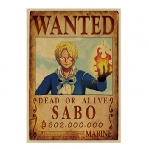 Print - One Piece Wanted Poster (SABO) 602,000,000