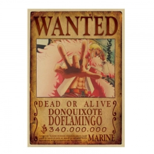 Print - One Piece Wanted Poster (DONQUIXOTE DOFLAMINGO) 340,000,000