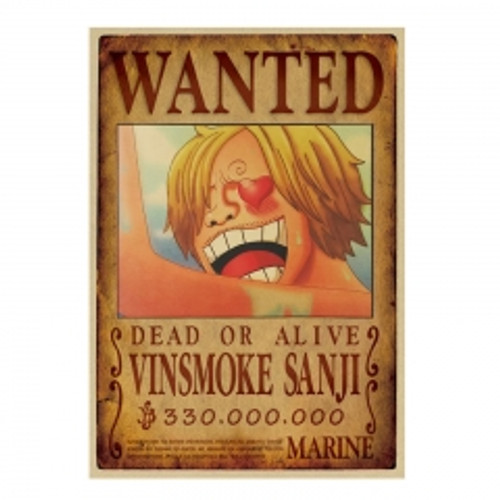 Print - One Piece Wanted Poster (VINSMOKE SANJI) 330,000,000