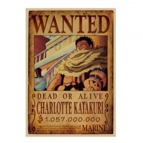 Print - One Piece Wanted Poster (CHARLOTTE KATAKURI) 1,057,000,000