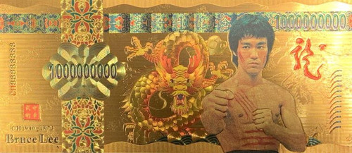Bruce Lee (Fighting Close Stance) Souvenir Coin Banknote
