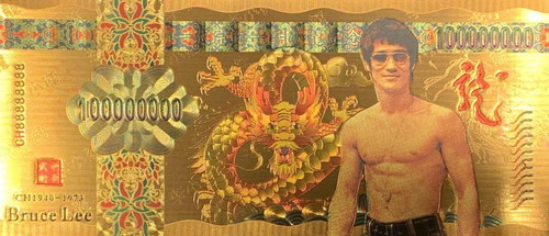 Bruce Lee (Glasses) Souvenir Coin Banknote