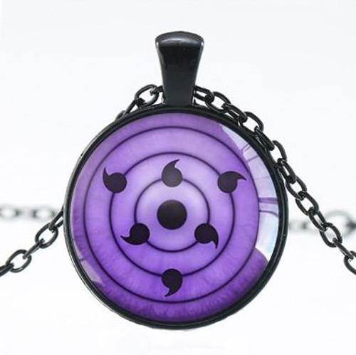 Naruto Anime (Sasuke Rinnegan Eye) Necklace
