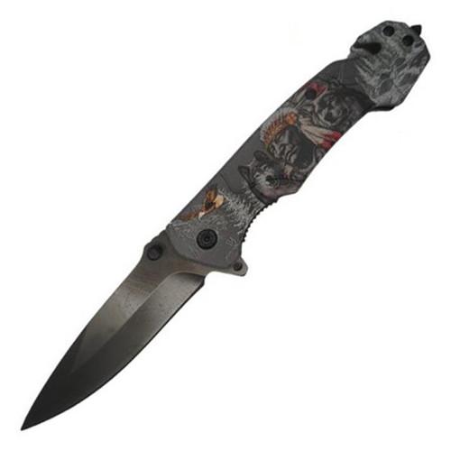 Rescue Titanium Coating (Indian/Wolf) A/O Pocket Knife