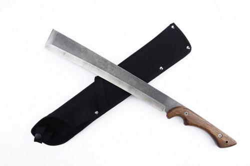 "Woodsman Japanese Nata Tool Machette Ergonomic Natural Wood Handle 19.3"""