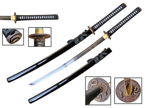 "Snake Guard (1095 Carbon) Hand Forge Samurai Sword Shinogi Zukuri Blade (42.5"" Overall)"