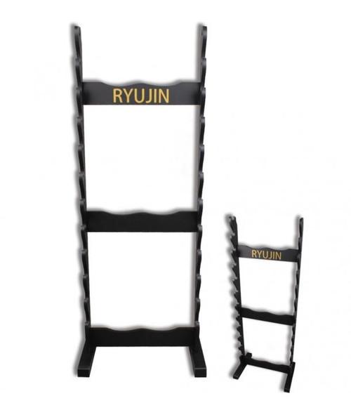 "Ryujin 12 Holder Samurai Sword Floor Stand 56"" H x 22"" W"