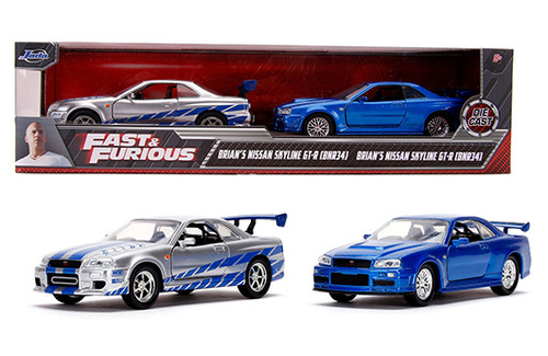 Model Car - 1:32 F&F 7 Brian's Nissan Skyline Twin Pack